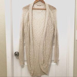 Roxy knitted long cardigan sweater size M